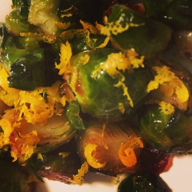 brussels sprouts with garnish